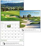 Fairways and Greens Spiral Wall Calendars